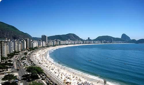 Playa Copacabana en Río de Janeiro