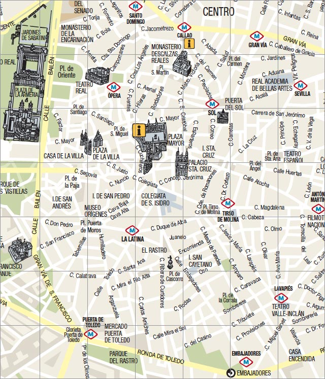 Mapa Turistico De Madrid Directorioturistico Net