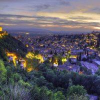Vistas de Granada, España